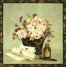 Kathryn White: Song Bird Journals Fertig-Bild 40x40 Wandbild Landhausstil Shabby