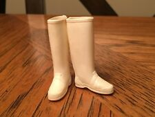 Vtg Barbie #0949 Stormy Weather White Squishy Rubber Boots