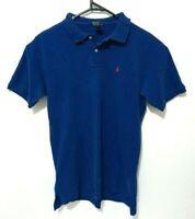 Polo Ralph Lauren Boys Shirt Size 18 - 20 (XL) Blue Short Sleeve Fits Mens S - M