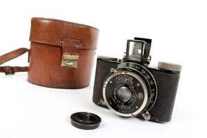 """Vintage c1935 ~ """"Dr. Nagel August"""" """"Rolloroy"""" Camera with Case       #1767"""