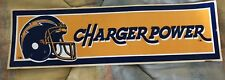 Vintage 1980's San Diego Charger Power Bumper Sticker  Decal NFL Los Angeles