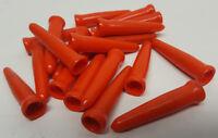 """20 pack of Orange automotive carburetor vacuum caps or fitting plugs 1-5/8"""" long"""