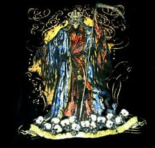 THE GRIM REAPER KING OF DEATH WANTS YOUR SKULLS T-SHIRT WS210