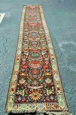 """Tibet Monk Handmade Wool Runner Oriental Rug Long 2'10"""" x 16'1"""" COLORFUL 1980-90"""