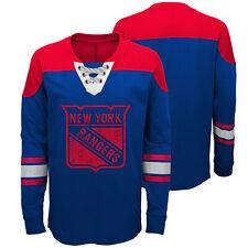 NHL New York Rangers Perennial Long Sleeve Crew Jersey Shirt Top Youth Kids