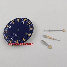 31mm blue sandwich sterile Watch Dial for eta 2824 2836 Movement (dial + hands)