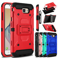 For Samsung Galaxy J7 Prime/J7 V/J3 Emerge/Prime Holster Clip Stand Case Cover