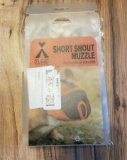 Short Snout Dog Muzzles Adjustable Breathable Mesh Bulldog Muzzle Medium Gray