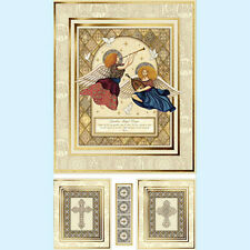 Heavenly Angel Fabric Religious Panel Christmas Angels Music Doves Bible Cotton