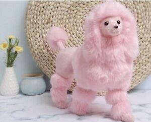Simulation Poodle Plastic&fur Pink Poodle Toy Large 37x26cm Prop Home Toy Gift
