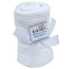 Soft Touch  couverture de bébé en coton blanc cellulaire 70 x 90 cm