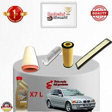 KIT TAGLIANDO 4  FILTRI E OLIO BMW SERIE 3 E46 330 D 150KW 204CV DAL 2003 ->