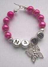 """Personalised Handmade """"Butterfly"""" Wine Glass Charm, Special Gift"""
