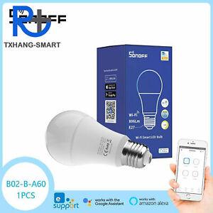 SONOFF B02-B WiFi Smart LED Light Bulb E27 RGB Dimmable Lamp Alexa/Google A2TS