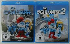 2x Die Schlümpfe 1+2 Blu Ray Sammlung  .