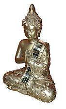 Meditating Thai Buddha Gold Statue Sculpture Ornament Figurine 22 cm