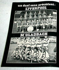 Football poster FC Liverpool Mönchengladbach european champions cup final 1977