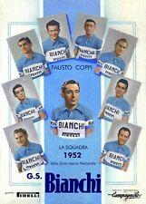 Fausto Coppi 1948 Tour De France A4 colour poster Bianchi Campagnolo Gran Sport