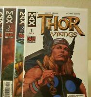 THOR VIKINGS * Marvel MAX Comics * RUN LOT of # 1 2 3, Garth Ennis & Glenn Fabry