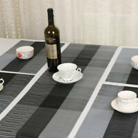 Kitchen Table Non Slip Table Runner Washable Vinyl Placemat Party Decor US