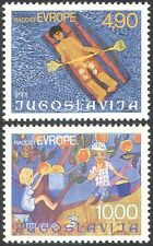 Yugoslavia 1977 Children/Art/Europe/Fruit/Holidays/Leisure 2v set (n26880)