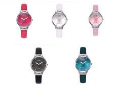 Womens Ladies Watches Wrist Watch Analogue Quartz Leather Strap Black White Pink
