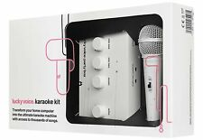 Lucky Voice Karaoke Machine System With White Microphone For PC/Ipad/iOS With...