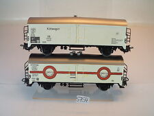 Märklin h0 1 x carrito de refrigeración 1 x Transfesa 2-achsig de la DB/Renfe #5754