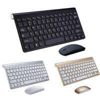 Thin Mini Wireless Keyboard And Optical Mouse Combo Set 2.4G For PC Laptops UK s