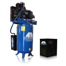 5 Hp Quiet Air Compressor With 30 Cfm Dryer Package Single Phase 80 Gallon Tank