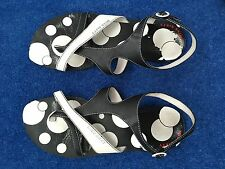 Miss Sixty ladies black and white leather sandal size 37