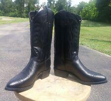 NIB Texas Brand Cowboy Western Boots Size 10EE Black