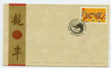 Weeda Canada 1836 VF FDC with single, 2000 Lunar New Year of Dragon issue CV $2