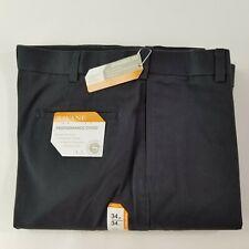 "NWT $75 SAVANE /""SHARKSKIN/"" PLEATED DRESS PANTS NO IRON GRAY 34X34"
