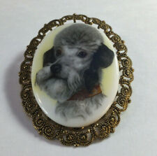 Rare French Poodle Brooch Signed West Germany  in Very Nice Condition [MF07]