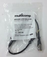 Multicomp Ground Loop Isolator 3.5mm Stereo Male-to-Female 0.3M Cable BRAND NEW