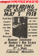 ROBERT JOHNSON BLUES POSTERS CROSSROADS CLAPTON DELTA SINGER GUITAR DEVIL GUITAR