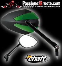 Specchietti Chaft Crusty verde moto Kawasaki Z750 Z1000 Er-6n Verys Klx Klr