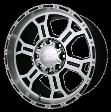 "17"" Vision Raptor Black Machined Wheels Rims 8x6.5 8 lug Chevy GMC Dodge RAM"