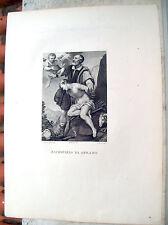 1850 INCISIONE 'SACRIFIZIO DI ABRAMO' DIPINTO DA ALLORI E INCISO DA G. ROSSI