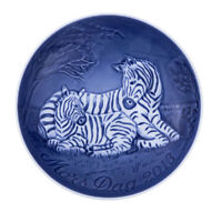 2013 Bing & Grondahl B&G Mother's Day Plate Zebra and Foal