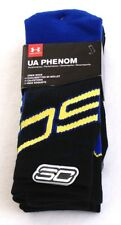 Under Armour Black & Blue  SC30 Phenom Crew Socks 3 in Package Men's L  NWT