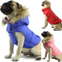 Pets Dogs Fur Hoodie Sweater Vest Winter Warm Clothes Puppy Apparel Costume Coat