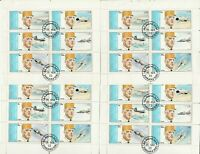 4 Kleinbögen Ch.de Goulle Sharjah gestempelt 93a