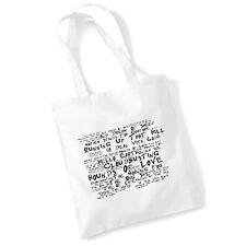 Art Studio Tote Bag KATE BUSH Lyrics Print Album Poster Gym Beach Shopper Gift