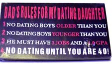 """Fun 6"""" Wood Sign """"Dad's Rules."""""""