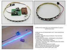 30 RGB LED Chaser Knight Rider Scanner WS2812B 500mm 11 programs RF remote