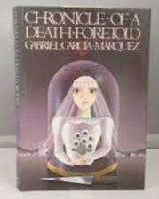 Gabriel García Márquez~CHRONICLE OF A DEATH FORETOLD~1ST(2ND)/DJ~NICE COPY