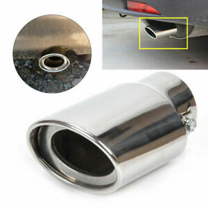 Car Silver Chrome Tail Throat Pipe Exhaust Pipe Trim Tips Muffler Pipe Useful