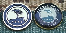 "Pebble Beach 2-Sided 1"" Gold Plated Golf Ball Marker  by Golf Design USA"